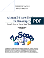 Altman Z-Score Not Just for Bankruptcy