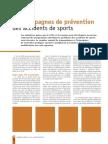 Accidents de Sports Et de Loisirs Sante de l Homme p30