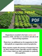 Kesuburan Tanah K-CA-Mg Tanah