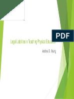 legal liabilities in teaching physical education 1