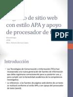 Registro de Sitio Web Con Estilo APA y