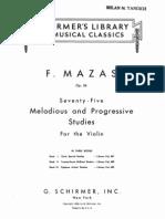 Etudes, Op.36 Vol.1_F.mazas