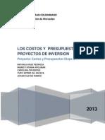 Los Costos y Presupuestos en Proyetos de Inversion (2)