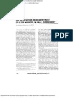 Age ,Jobsatisfaction, Productivity