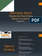 Manhattan Beach Real Estate Market Conditions - October 2013