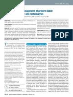 Nifedipine in Management Preterm Labor