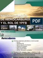 Nacionalización Hidrocarburos II SH