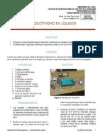 Laboratorio Electromagnetismo - Conductividad en líquidos