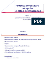 Tema 4 Mas ILP Arquitectura