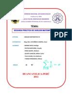 SEGUNDA PRÁCTICA DE ANÁLISIS MATEMÁTICO III-2012