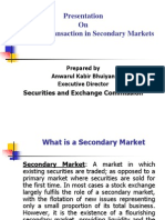 Investment in Secondary Market, Transaction Procedure and Index