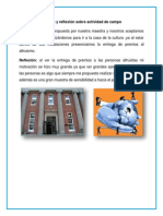 Informe y reflexión sobre actividad de campo