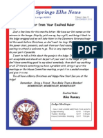 Sand Springs Elks December 2013 Newsletter