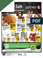 Safeway超级市场12月1日到3日特卖优惠
