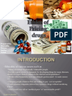 Ethics of Pricing Drugs