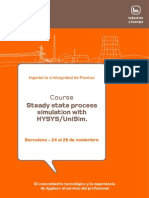 Steady State Process Simulation with Hysys