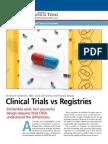 Clinical Trials vs Registries