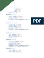 Create Database COTEL