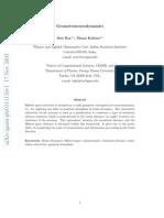 Menas Kafatos Geometroneurodynamics 0311110