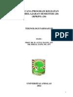 RPKPS Teknologi Farmasi III