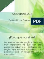 Act. 6 Evaluacion de Paginas Web