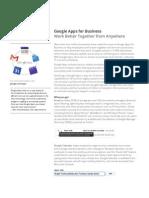 Google Apps Data Sheet