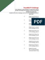 possability worksheet
