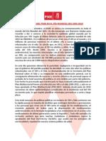 Manifiesto del PSOE en el Día Mundial del Sida 2013