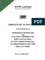 NTPC Coal Supply Bid Document