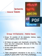 Group 18 Elements