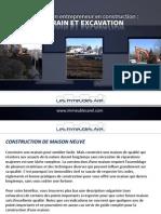Conseils d'un entrepreneur en construction - Terrain et excavation