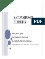 Mk End Slide Ketoasidosis Diabetik