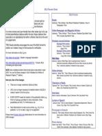 MLA Review Sheet