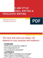 3 Right Tone & Style, Transactional & Persuasive Writing