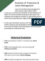 Production Operation ManagementEvolution