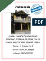 contoh iklan rumah
