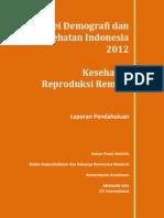 Laporan Pendahuluan REMAJA SDKI 2012