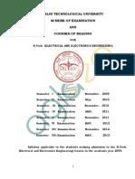DTU New Syllabus for EEE