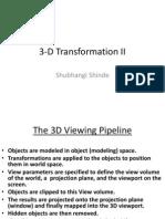 3-D Transformation II