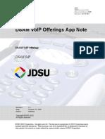 DSAM VoIP Offerings App Note