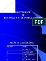 Maintenance of Regional Water Supply Schemes