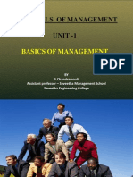 Unit - 1 Essentials of Management - Basics of Management