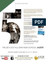 UCF All-Star High School Jazztet 2014 - TeacherFlyer