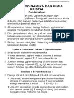 4. Termodinamika & Kimia Kristal