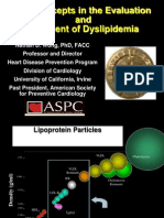 Evaluation and Management of Dyslipidemia Jan 2013