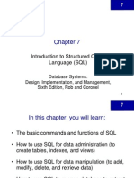 Chapter 7 Introduction to SQL