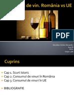 Consumul de vin. România vs UE