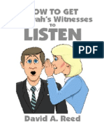 Como colocar as testemunhas de Jeová  para ouvir - David A. Reed.doc