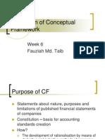 Evaluation of Conceptual Framework Wk6