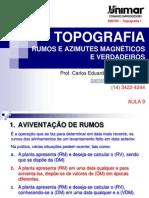 200784-ToPOGRAFIA I - AULA 09 - Rumo e Azimutes Magntricos e Verdadeiros - 2